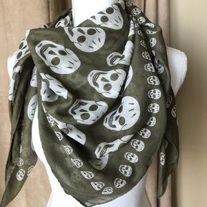 Accessories - Scull print silk blend scarf made in Italy